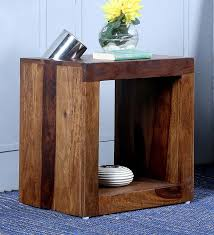 Natural Wood End Tables Buy Magix End Table In Natural Wood Finish By Home Online
