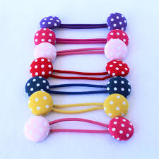 bobbles hair polka dot fabric bobble hair ties linc madeit au