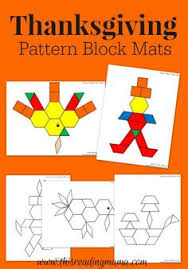 thanksgiving mats pattern blocks pattern blocks thanksgiving