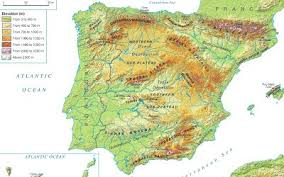 physical map of spain 1 the land relief of the iberian peninsula 3º eso geography