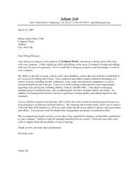 Writer Cover Letter Writing An Effective Cover Letter For A Job Mytemplate Co