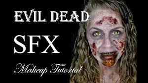 evil halloween makeup deadite sfx makeup tutorial evil dead youtube