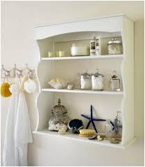 decorative wall shelf ideas modern brown and white floating