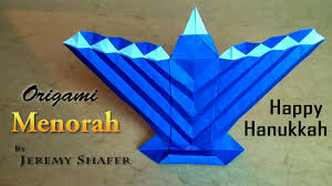 origami menorah youtube