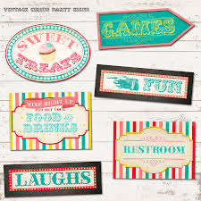 valerie pullam designs circus birthday party pack vintage