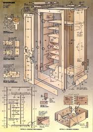 2734 wardrobe plans furniture plans woodworking projects