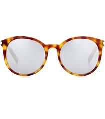 saint laurent classic 11 mirrored aviator sunglasses orange women