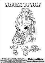 monster high chibi coloring pages monster high nefera de nile baby chibi cute coloring page m h
