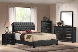 emily black tufted 5 bedroom set furniture distribution center