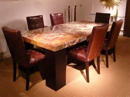 stone top dining room tables square marble dining table formal
