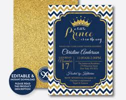 royal prince baby shower theme prince baby shower etsy