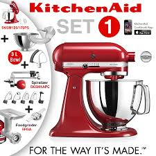 Kitchenaid Mixer Artisan by Kitchenaid Artisan Stand Mixer Set 1 Empire Red Cookfunky