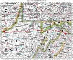 Wv Map Historic Roads Paths Trails West Virginia Tennessee Kentucky