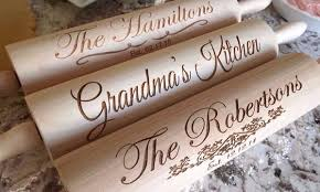 personalized kitchen items rolling pin collection qualtry