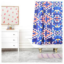 Bright Shower Curtain Holli Zollinger Geo Nomad Bright Shower Curtains Deny Designs