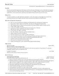 Sample Resume For Experienced Net Developer Experience Resume Sample For Web Developer Unique Sample Resume