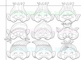coloring pages troll printable black holidaypartystar zibbet