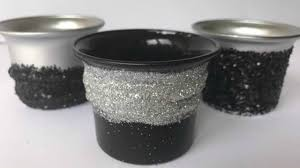 candle holder diy decorations on a budget all black
