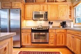 modern kitchen with unfinished pine cabinets durable pine kitchen with stainless steel appliances and pine cabinets