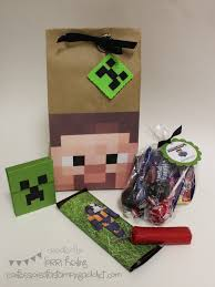 minecraft goody bags minecraft birthday great goody bag tnt and gum wrapper party