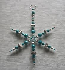 ooak 7 1 2 inch beaded snowflake christmas ornament made with