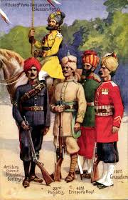 military art by gale u0026 polden indian army 33rd punjabis 43rd
