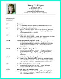 Sample Child Actor Resume by Appealing Dance Resume Examples