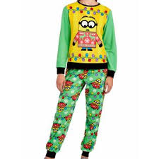Sweater Pajamas Illumination Entertainment Despicable Me Womens Fleece Minion