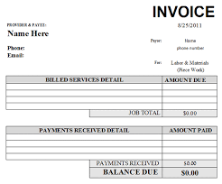printable bill receipt fabulous auto repair invoice template 600 x 498 28 kb gif