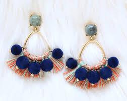 Black Bead Earrings Bronze Chandelier Chandelier Earrings Etsy