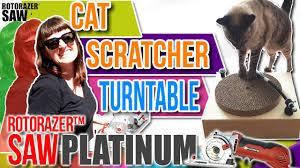 Cardboard Cat Scratcher House Diy Cat Scratching Post Cardboard Turntable Homemade Cat