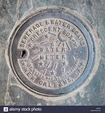water meter new orleans united states louisiana new orleans quarter vintage water