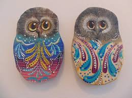 wise owl wooden animal ornaments unique by coastalanimalcrafts