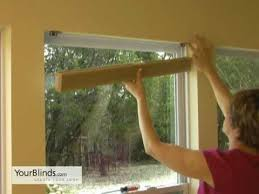 How To Hang Blinds On A Door How To Install Cellular Shades Inside Mount Yourblinds Com Diy
