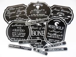 halloween jar labels apothecary style jar bottle labels party displays great fun