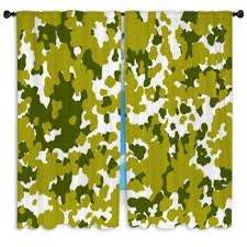 Blue Camo Curtains Camouflage Custom Size Window Curtains