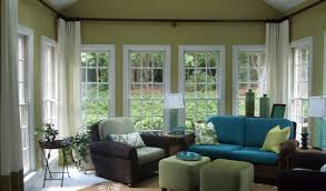 Craftsman Style Window Treatments Sunroom Makeover On My List Love The Higher Curtain Interior