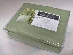 Twin Sheet Set Charter Club Damask Solid 500 Tc Twin Sheet Set Palmetto Green