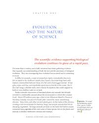 1 evolution and the nature of science science evolution and