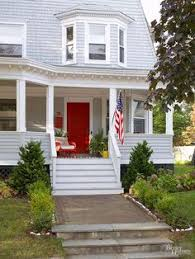 Curb Appeal Front Entrance - 12 ways to enhance your front entry red front doors front stoop