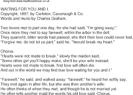 Seeking You Re Not Married Time Song Lyrics For 58 Waiting For You And I