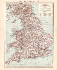 Map Of Wales Antique Map Of England And Wales From 1890 Italy England