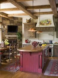 Country Kitchens With Islands 299 Best Rustic Kitchens Images On Pinterest Dream Kitchens