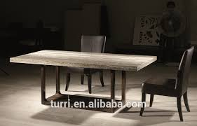 Travertine Dining Table Luxury Furniture Nature Travertine Marble Top Wooden Base Dining