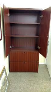 Dr Bookcase Enclosed 3 Shelf Storage Bookcase W 2 Dr Lateral File Palmetto