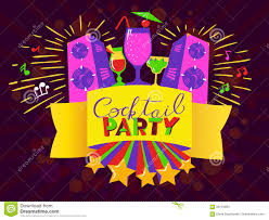 poster for birthday or cocktail party stock vector image 94900259