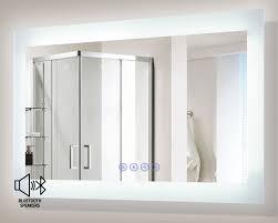 Illuminated Bathroom Mirror by Blu103 Led Illuminated Bathroom Mirror With Built In Bluetooth Speaker
