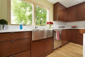modern wood slab kitchen cabinets bichon frise poodle cherry kitchen cabinet waterfall island