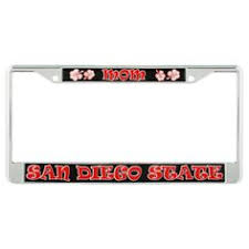sdsu alumni license plate frame chrome license plate frame featuring sdsu alumni 31 95 aztec