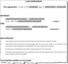 doc money contract template u2013 loan agreement template loan